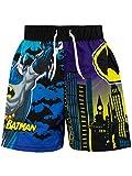 DC Comics Costume da Bagno per Ragazzi a Due Pezzi Batman Nero 3-4 Anni