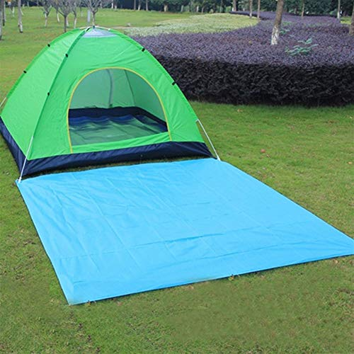 Manta de Picnic Picnic Barbacoa en la Playa Mat Azul Negro portátil Lona Impermeable Camping al Aire Libre Estera Que acampa del colchón Lona Bay Juego Sandbeach Tarp (Color : Blue)
