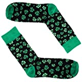 Man of Men - Men's St. Patricks Day Socks - Choice of Style and Color St. Pattys (Clover - Green)