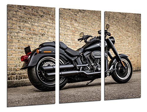 Cuadro Fotográfico Moto Harley Davidson, Moto Vintage Tamaño total: 97 x 62 cm XXL