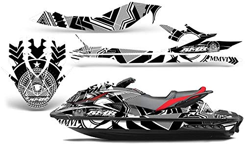 AMR Racing Jet Ski Graphics kit Sticker Decal Compatible with Sea-Doo GTI SE 2011-2014 - Conspiracy White
