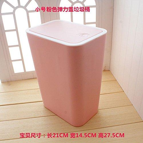 Xiuxiutian Bacs à ordures extérieurs Le Pied en Plastique Chambres Chambre à Coucher Salle de séjour, Cuisine poubelles Office 21 * 14.5 * 27,5 cm