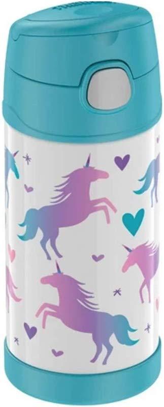 Thermos Unicorn Hearts 12 Oz Funtainer Bottle White