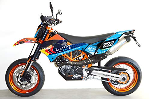 Blue 690 SMC SMC/R Enduro (08-17) | Factory DEKOR Decals KIT Aufkleber Graphics