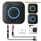 1mii B06 Plus Récepteur Audio sans Fil, Adaptateur Bluetooth 5.0 pour Système Stéréo Domestique, avec aptX-LL Faible Latence...