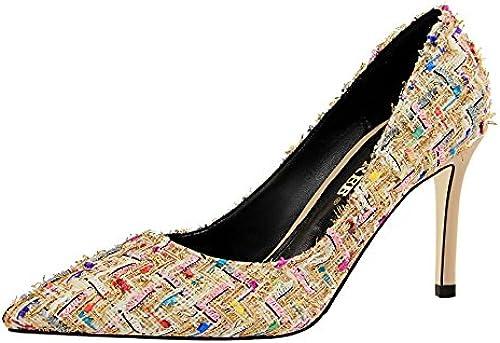 FLYRCX Mode Pointu Bouche Peu Profonde Stiletto Chaussures Simples Simples Les Les dames tempéraHommest Sexy Talons Hauts  commandez maintenant profitez de gros rabais