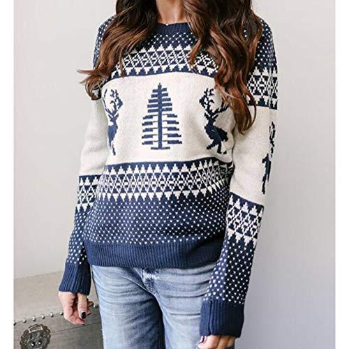 cappotto donna jacquard DJJCNMaglione Maglione Pullover Maglione Jacquard da Donna Elk Jacquard Cappotto Natale Inverno da Donna Abbigliamento da Donna Caldo E Caldo