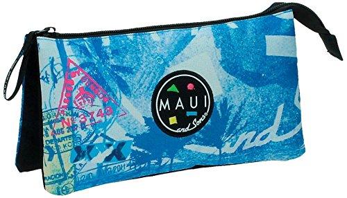 Maui Surf Neceser de Viaje, 1.32 litros, Color Azul