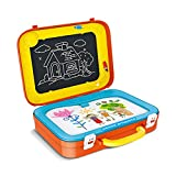 MeeYum Kids 2 in 1 Drawing Board Suitcase for Children, Includes 2 Boards , Crayons and Eraser