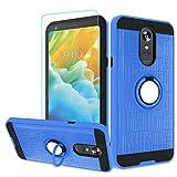 Atump LG Stylo 4 Hülle, LG Q Stylus 4 Hülle, Stylo 4 Plus Handyhülle mit HD Bildschirmschutzfolie, 360 Grad drehbarer Ringhalter, Kickstand Halterung, Handyhülle für LG Stylo 4 Blau