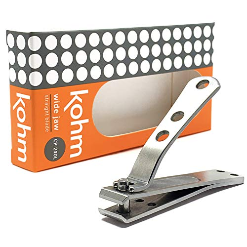 Kohm CP-240L Straight Edge Toe Nail Clippers for Thick Toenails,...