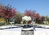 AmaCasa Vlies Tischband 23cm/20m Rolle Tischläufer Flower Vlies Hochzeit Kommunion (Schwarz, Vlies) - 4