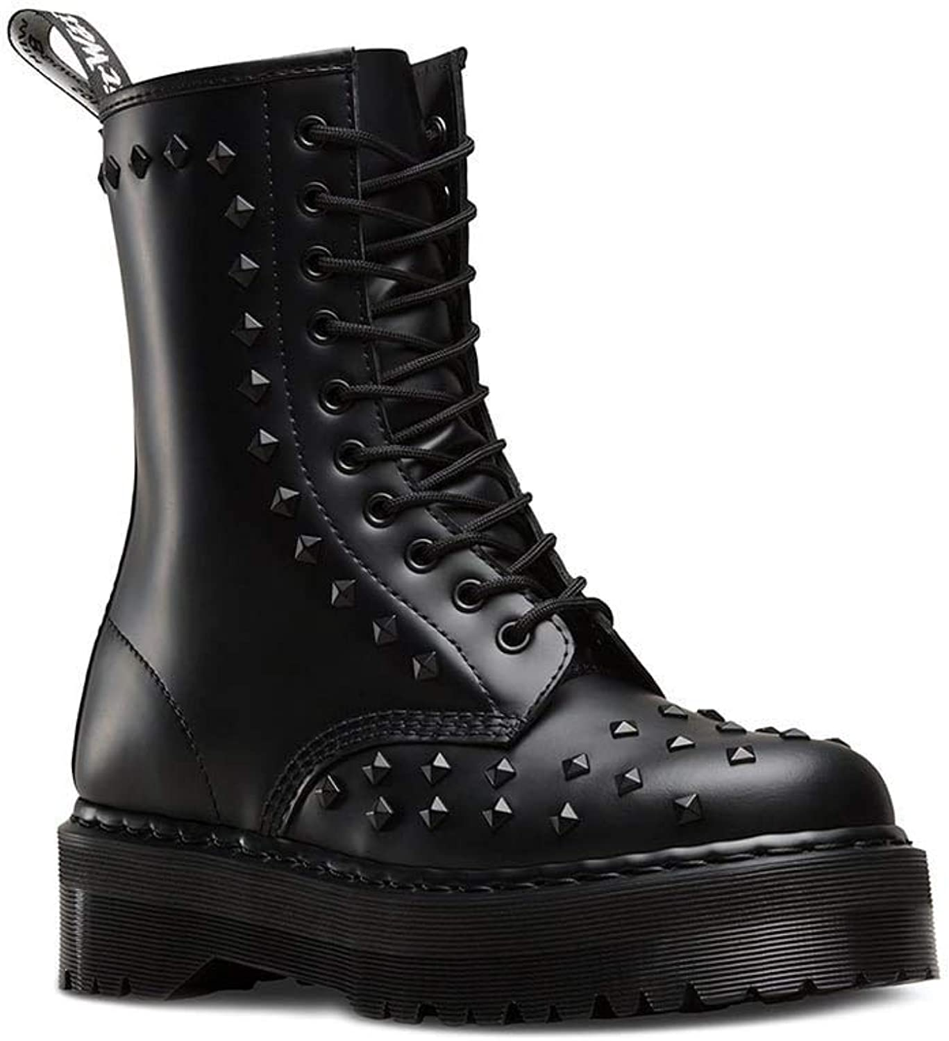 Dr.Martens Womens 1490 Stud 10-Eyelet Leather Boots