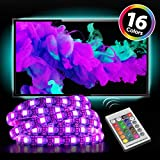"""Monster Mounts 16 Color LED TV Backlight Kit with 4 20"""" LED Strips and IR Remote Control for Home Theaters and Monitors"""