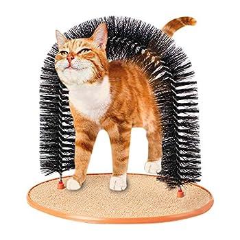 IBLUELOVER - Grattoir pour chaton - Jouet de massage auto-toilettage - Poils doux - Brosse en fourrure pour chat - Brosse à poils doux - Brosse à poils doux - Pour jouer et gratter