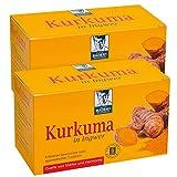 BADERs Kurkuma in Ingwer aus der Apotheke. Erlesener Gewürztee nach ayurvedischer Tradition. 2 x 20 Filterbeutel.
