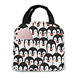 Yuanmeiju Bolsa de almuerzo para muchos pingüinos, bolsa de picnic aislada, enfriador térmico, bolsa grande para preparación de comidas, bonita bolsa grande, a prueba de fugas, bolsas blandas