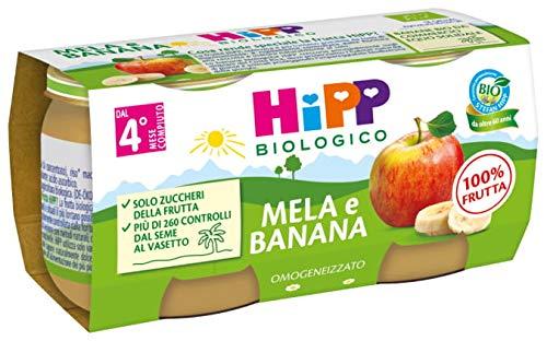 Hipp - Omogeneizzato Di Frutta, Gusto Mela E Banana, 24 Vasetti da 80 G - 1920 g