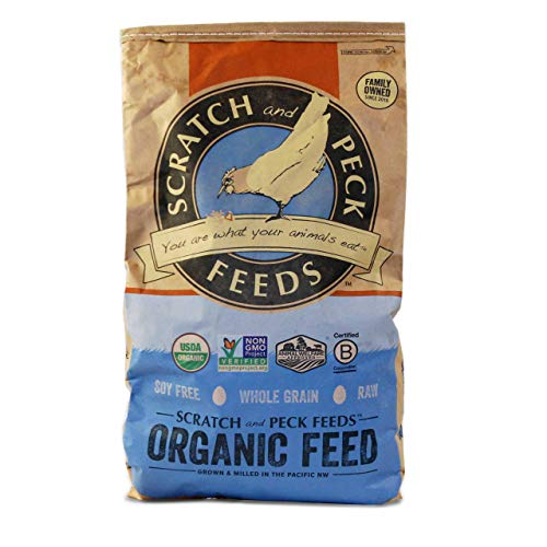 Organic Layer Feed with Corn for Chickens and Ducks - 16% Protein - 25-lbs - Non-GMO Project Verified, Always Soy Free - Scratch and Peck Feeds