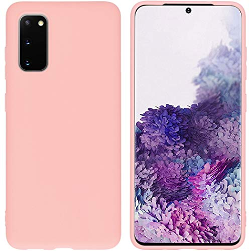 iMoshion kompatibel mit Samsung Galaxy S20 Hülle – Color Back Cover – Silikon Handyhülle Soft Hülle in Pink [Matt, Superdünn, Anti-Rutsch]
