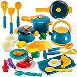 LINFUN KIDS Küchenspielzeug Lebensmittel Spielzeug, Kinderküche Zubehör Kochgeschirr Töpfe Pfannenset Rollenspiele Geschenk für 3+ Jähren Kinder