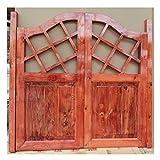BGSFF Pastoral Puerta de salón Puerta abatible Puerta de café Bar Cocina Restaurante Divisor de Entrada, Bisagra incluida, Personalizable (Color: A, Tamaño: 75x80cm)