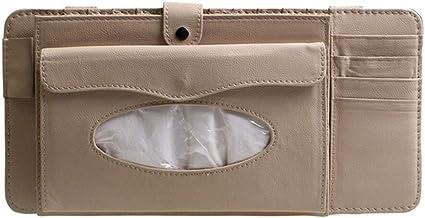 XuCesfs Multifucntional Tissue Opberghouder Box S-un Vizier Papier Dispenser S-Zonnebrillen Clip voor Auto Motor Voertuig...