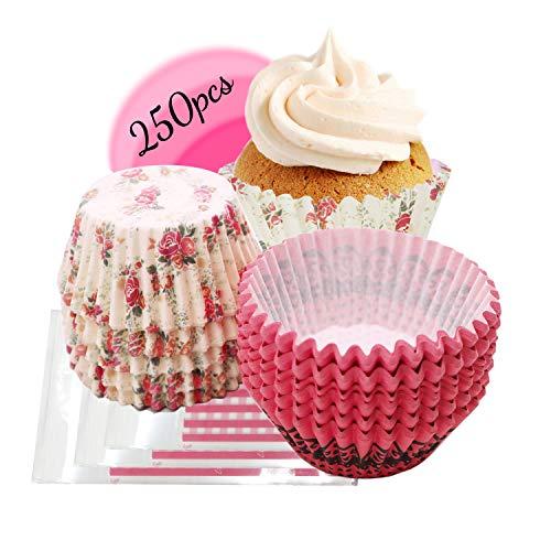 Muffinförmchen-Standardgröße, muffin förmchen papier, muffinförmchen papier, Papier-Backförmchen, 250 Stück, BodenØ 5CM, Für Cupcake-Dekoration, Bäckerei, Dessert-Servierung, Beilagendekoration (C03)