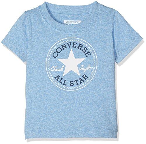 Converse Baby-Jungen Jogginganzug Chuck Yarn Heather Tee, mehrfarbig (Soar Snow), 9 M