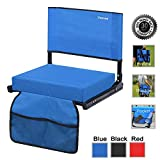 Sheenive Stadium Seats for Bleacher - Wide Padded Cushion Stadium Seats Chairs for Outdoor Bleachers with Leaning Back Support and Shoulder Strap, Perfect for NFL & Baseball Games