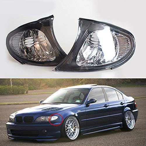 Clidr Driver and Passenger Side Turn Signal Corner Light Lamp Lens Replacement for BMW E46 3-Series 4DR 2002 2003 2004 2005 Sedan (Left and right)