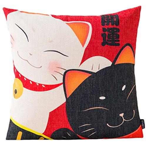 Black Temptation Style Japonais Coussin d'oreiller Confortable pour la Maison/Sushi Restaurant 45x45cm -A30