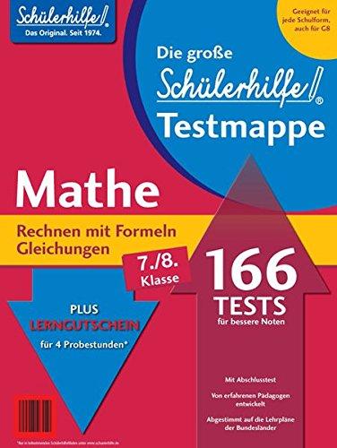 Testmappe Mathe Rechnen mit Formeln/Gleichungen (Kl. 7.-8.)