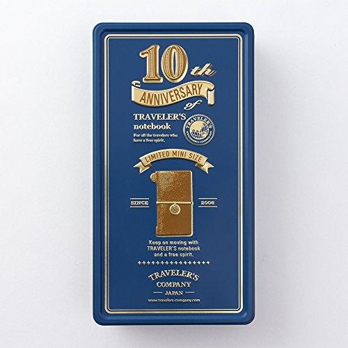 トラベラーズノート Traveler's notebook 10周年缶セット ミニサイズ本体付 キャメル 15197006