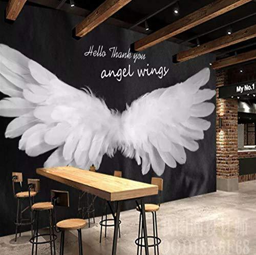 Fototapete 3D Engelsflügel Vlies Wand Tapete Wandbilder Moderne Wanddeko für Wohnzimmer Schlafzimmer Büro Flur Dekoration 300CMx210CM