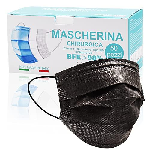 Mascarilla Desechable Negra 50 Marca Fayyia