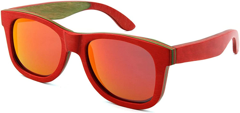 Sunglasses, Sunglasses Polarized Fashion Men and Women UV400 Predective Glasses Mezzanine Wood Outdoor Travel Driving Lens Polarized Shade Glasses
