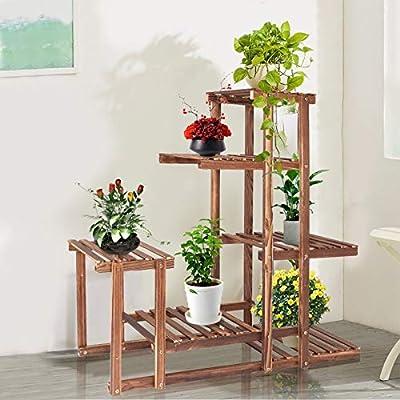5- Tier Wooden Plant Stand Indoor Outdoor,Plant...