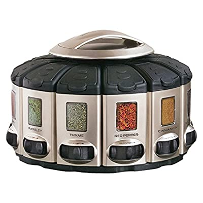 KitchenArt 57010 Select-A-Spice Auto-Measure Carousel Professional Series, Satin by Kitchen Art
