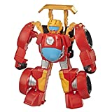 Transformers Playskool Heroes Rescue Bots Academy Hot Shot Converting Toy Robot, 4.5-Inch Collectible Action Figure Toy for Kids Ages 3 and Up