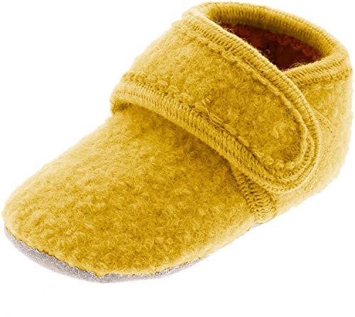 CELAVI Unisex-Baby Wool Shoe Hausschuh, Gelb