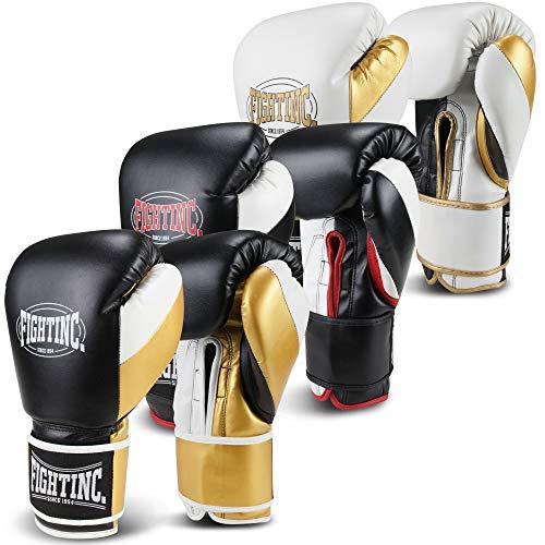Fightinc. Boxhandschuhe Legacy schwarz/rot (001) 12 Oz
