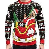 Method Man on Sleigh Ride Adult Ugly Christmas Sweater