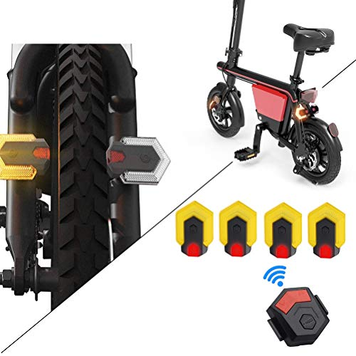 SANTITY 2 Pairs Bike Front and Rear Lights LED Bike Tail Turn Signal Indicator Light with Smart Remote Control Rechargeable Cycling Warning Light for Mountain Bike, Road Bicycle