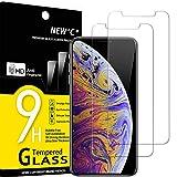 NEW'C 2 Pezzi, Vetro Temperato Compatibile con iPhone 11 PRO Max e iPhone XS Max (6.5'), Pellicola Prottetiva Anti Graffio, Anti-Impronte, Durezza 9H, 0,33mm Ultra Trasparente, Ultra Resistente