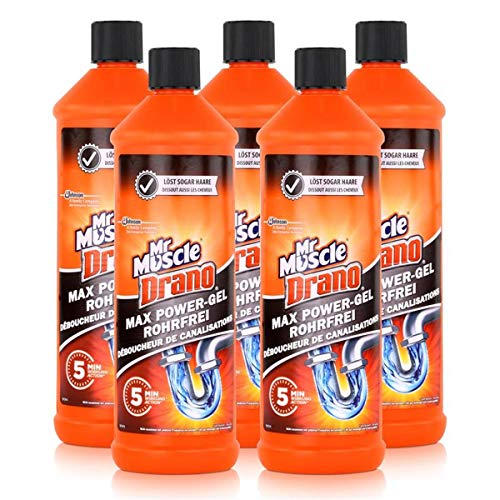 Mr. Muscle Drano Power-Gel, 5 x 1000 ml
