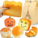 BEESTECH Jumbo Bread Squishy, Huge Giant Bread Squishies Pack, Cream Scented Slow Rising Squishy...