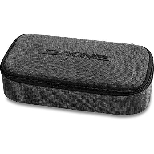 Dakine School Case XL Carbon grau, Federmäppchen für Schule, Studium oder Arbeit mit Stifthalter für fünf Stifte und viel Platz für mehr