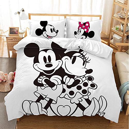 Meesovs Duvet Cover Sets King Size Double Single Bed, 3D Cartoon anime character Print Microfiber Soft comfortable Bedding Set Included 1 Duvet Cover + 2 Pillowcase (single person 135 X 200 cm) with