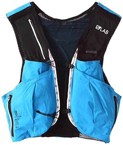 SALOMON Bag S/Lab Sense Ultra 8 Set - Bolsa de hidratación, Unisex Adulto, Azul(Transcend Blue/Black)